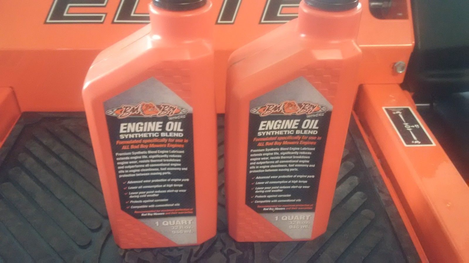 2 Quart Special Bad Boy Mower OEM Engine Oil 085-6015-00