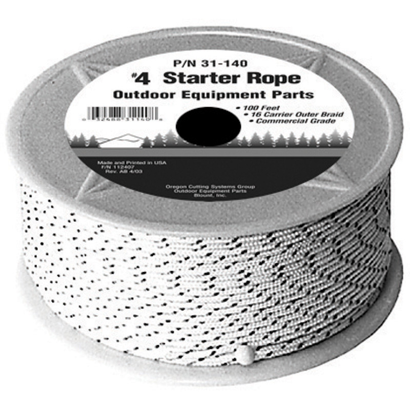 Oregon Replacement  Starter Rope No. 4 100Ft Premi Part Number 31-140