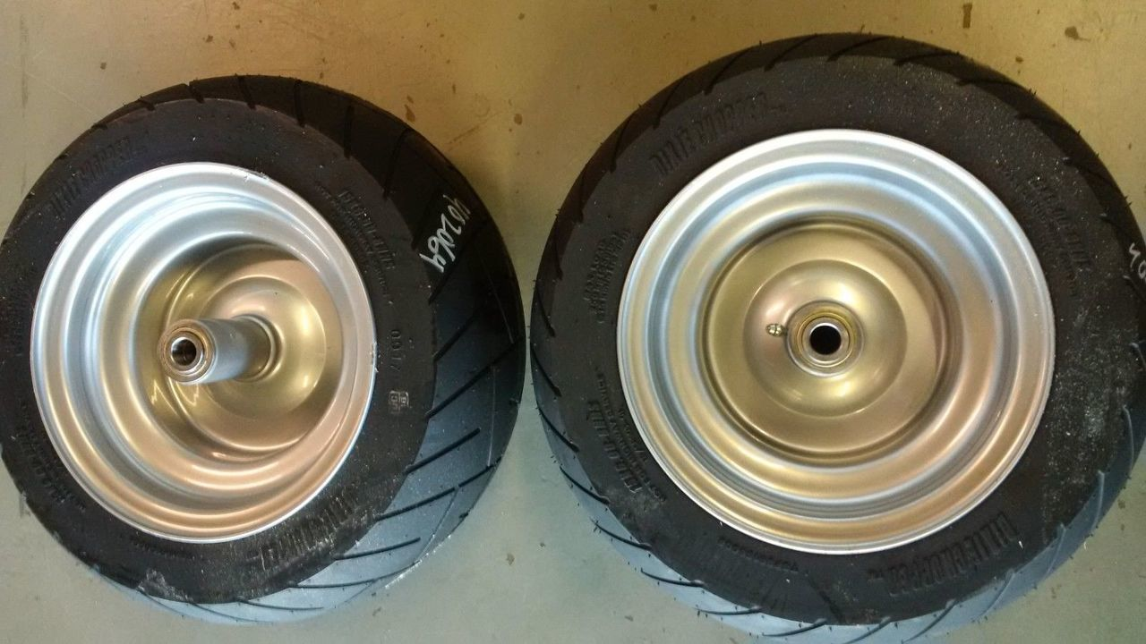 2 Dixie Chopper Solid NO FLAT Front Wheels With 15x6.00-8 402064