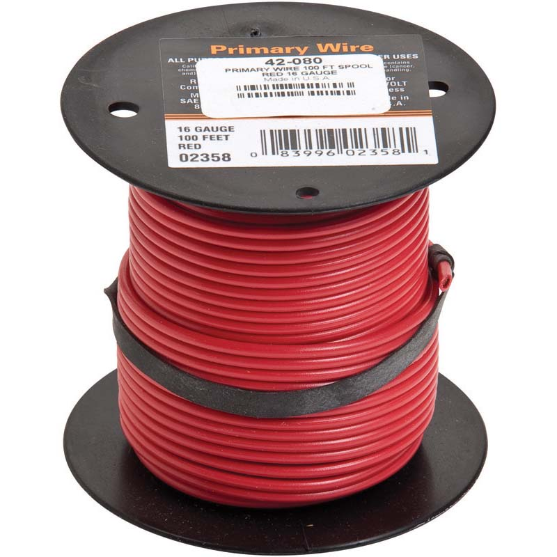 Oregon Replacement  Primary Wire 100 Ft Spool Red Part Number 42-080