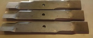 Dixie Chopper OEM Mower Blade Set of 3 30227-50T Twisted Blade