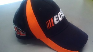 ECHO Outdoor Power Equipment OEM Black and Orange Hat